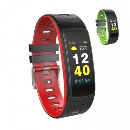 Fitness náramok Smart náramok Umax U-Band 116HR, 2 remienky, čierna