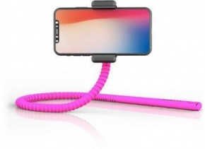 Flexibilné selfie tyč Zbam GEKKOSTICK, multifunkčný, ružová