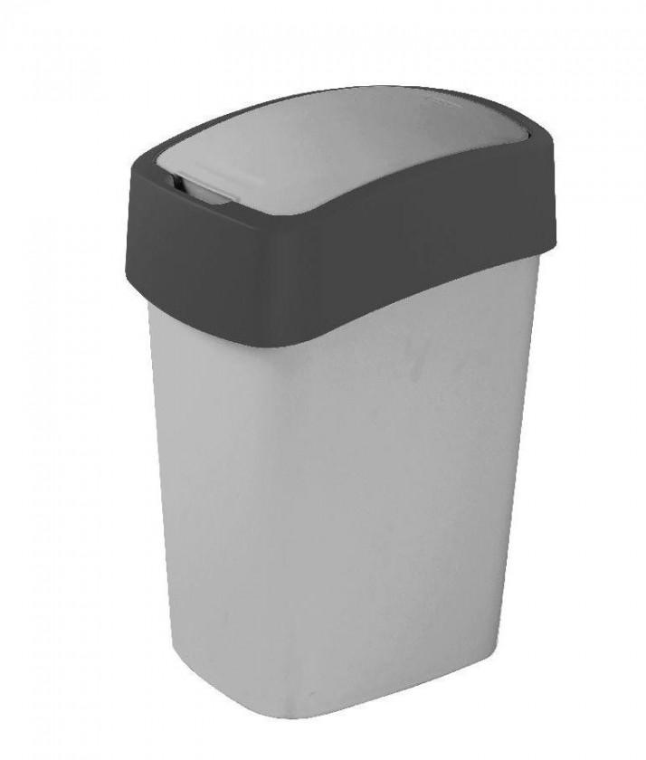FLIPBIN, 10l (plast,sivá)