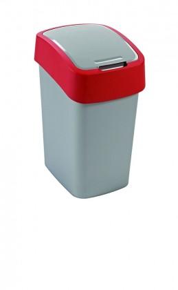 FLIPBIN, 10l (plast,sivo-červený)
