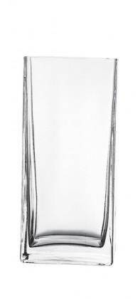 Flora - Váza hranatá, 22 cm (sklo číre)