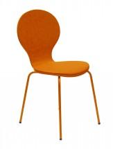 Flower - Jedálenská stolička, sedák (oranžová, eko koža)