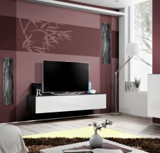 Fly - RTV, 1x dvere, 3x roz (čierny mat/biely lesk)