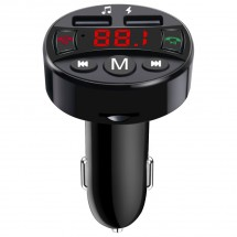 FM transmiter MK Floria MKF-BT21ch, podpora USB a SD kariet,2,1A