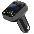 FM transmiter s BT. Podpora USB a SD karet,5V/3,4A. Vstup 12-24V