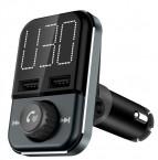 FM Transmiter s BT. Podpora USB a SD kariet,5V/2,4A. Vstup 12-24V