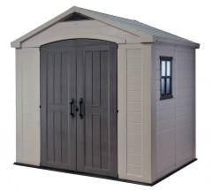 Focus - záhradný dom (182x256,5 cm, béžová/sivohnedá)