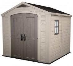 Focus - záhradný dom (255x256,5 cm, béžová/sivohnedá)