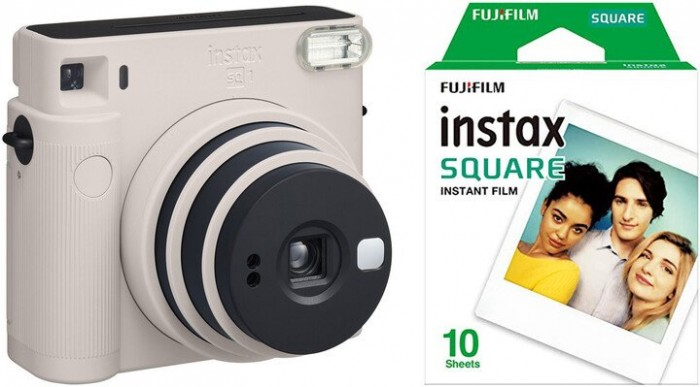Fotoaparát Fujifilm Instax Square SQ1, biela + fotopapier 10ks