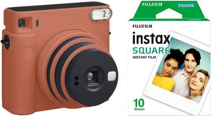 Fotoaparát Fujifilm Instax Square SQ1, oranžová +fotopapier 10ks