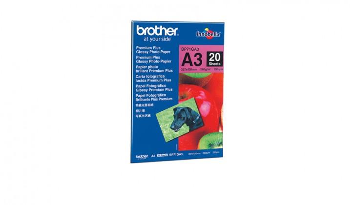 Fotopapier  Brother BP71GA3 fotopapír A3, 20 listů