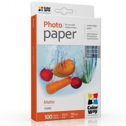 Fotopapier COLORWAY fotopapír/ matte 190g/m2, 10x15/ 100 kusů