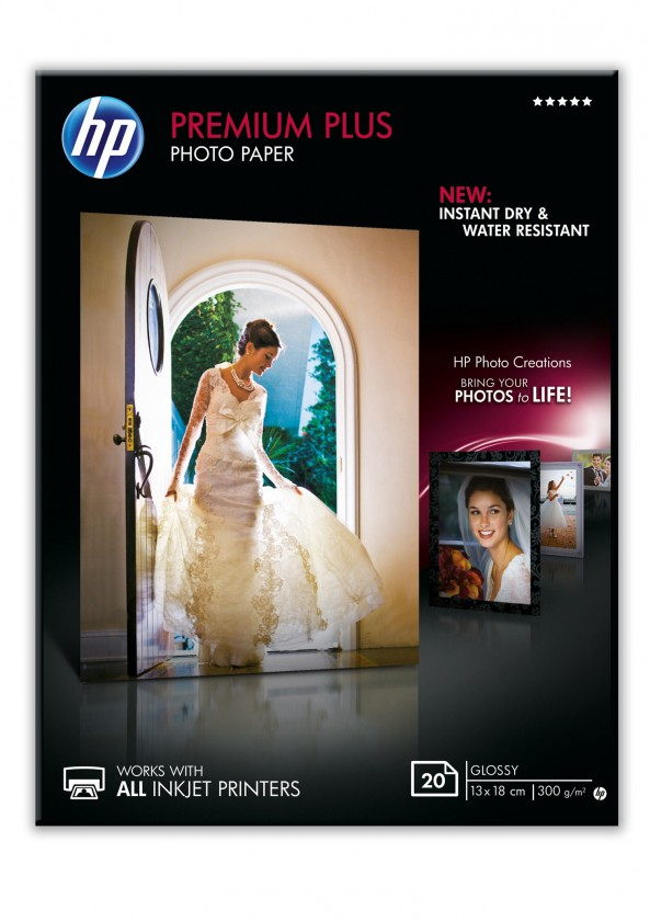 Fotopapier Fotografický papier HP CR676A, lesklý, 13x18cm, 20ks