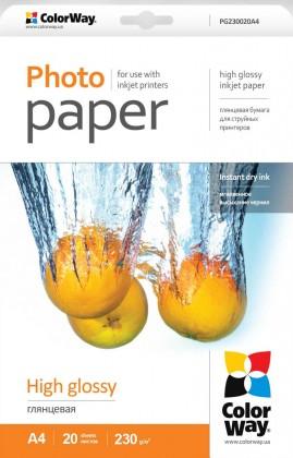 Fotopapier Fotopapier colorway A4, 230g/m2, 20ks/bal (PG230020A4)