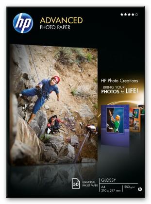 Fotopapier HP Advanced Glossy Photo Paper-50 sht/A4/210 x 297 mm,  250 g/m2,