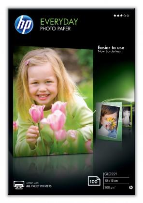 Fotopapier HP Everyday Glossy Photo Paper-100 sht/10 x 15 cm, 200 g/m2, CR75