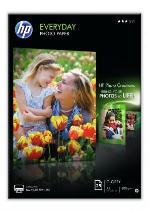Fotopapier HP Everyday Glossy Photo Paper-25 sht/A4/210 x 297 mm, 200 g/m2,