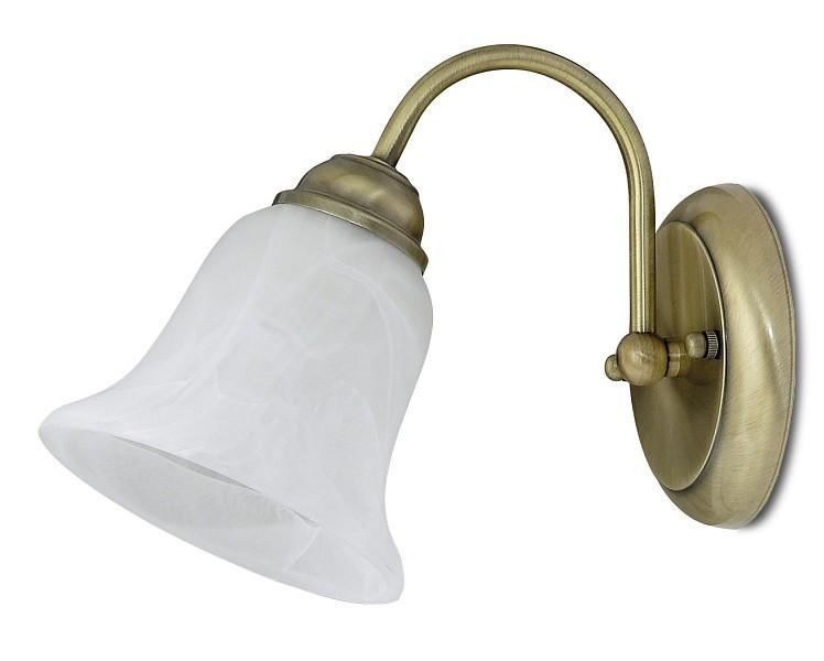 Francesca - Nástenné osvetlenie,7371 (bronzová/biela alabastrová)