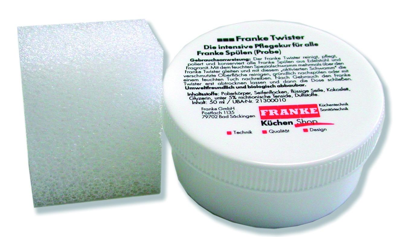 Franke - čistiaca pasta na drez Twister, 40 ml (biela)