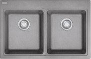 Franke - drez Fragranit MRG 620, 800x520 mm (sivý kameň)