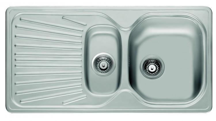 "Franke - drez nerez MON 651 3 1/2"", 965x500mm (strieborná)"