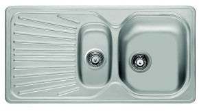 "Franke - drez nerez MON 651 E 3 1/2"", 960x500mm (strieborná)"