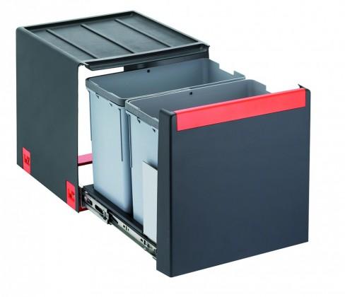 Franke - sorter cube 40 - 2x14 l (čierna)