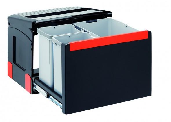 Franke - sorter cube 50 - 1x14 l, 2x8 l (čierna)
