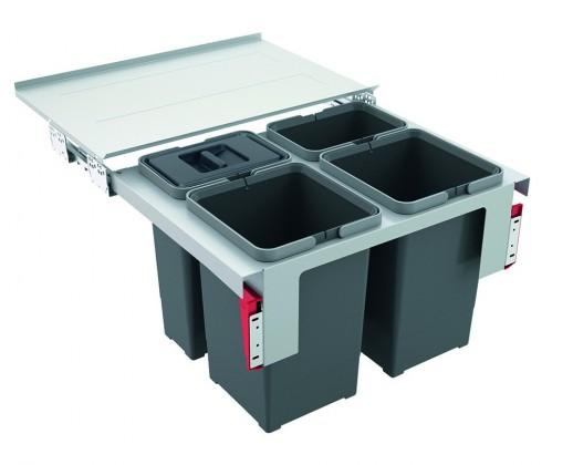 Franke - sorter garbo 60-4 - 2x12 l, 2x8 l (sivá)