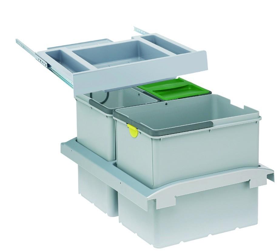 Franke - sorter trolley vario - 1x18 l, 2x8 l (sivá)