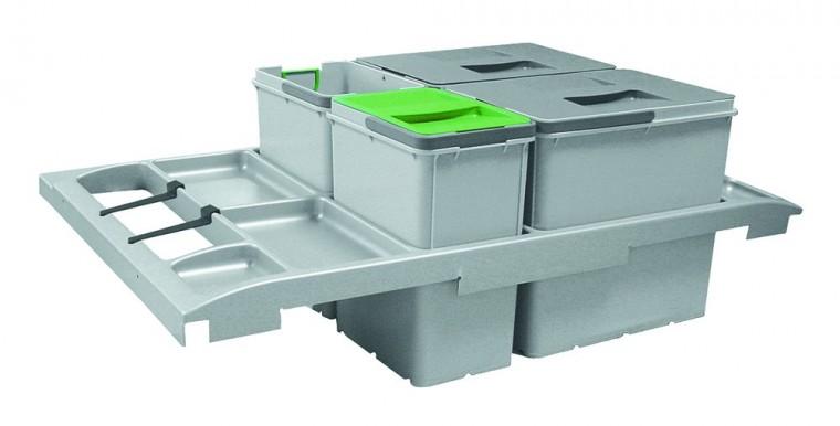 Franke - sorter trolley vario - 2x18 l, 2x8 l (sivá)