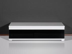Freestyle - TV stolík, 1503-73 (biela/čierne sklo)