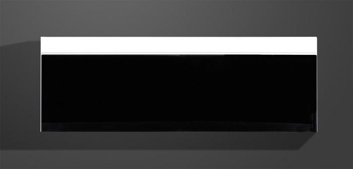 Freestyle-Závesná vitrína,(biela/čierna vysoký lesk) - II. akosť