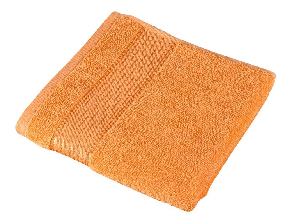 Froté osuška Kamilka, prúžok, 70x140cm (oranžová)