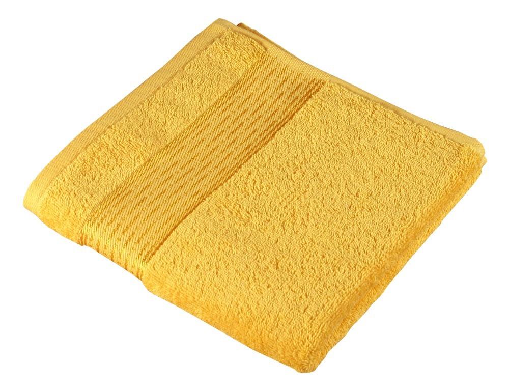 Froté osuška Kamilka, prúžok, 70x140cm (žltá)
