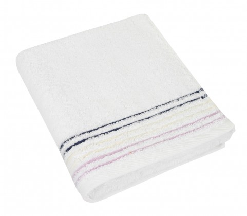 Froté uterák, fialová rada, 50x100cm (biela)