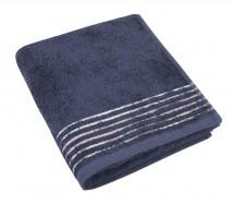 Froté uterák, fialová rada, 50x100cm (tmavo modrá)