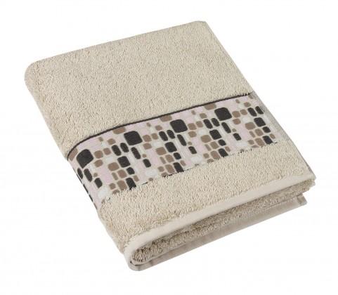 Froté uterák Kamene, 50x100cm (béžová)