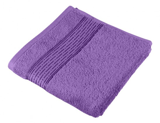Froté uterák Kamilka, prúžok, 50x100cm (fialová)