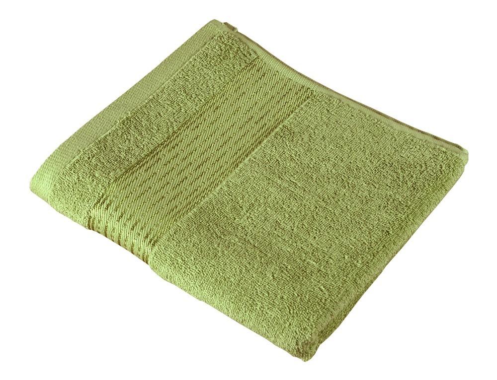 Froté uterák Kamilka, prúžok, 50x100cm (olivová)