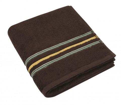 Froté uterák, zelená rada, 50x100cm (tmavo hnedá)