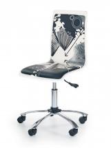 Fun 9 - detská stolička (bielo-čierna)