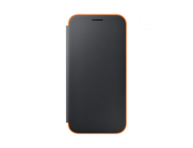 Galaxy A5 (2017) Flipové neónové puzdro Black