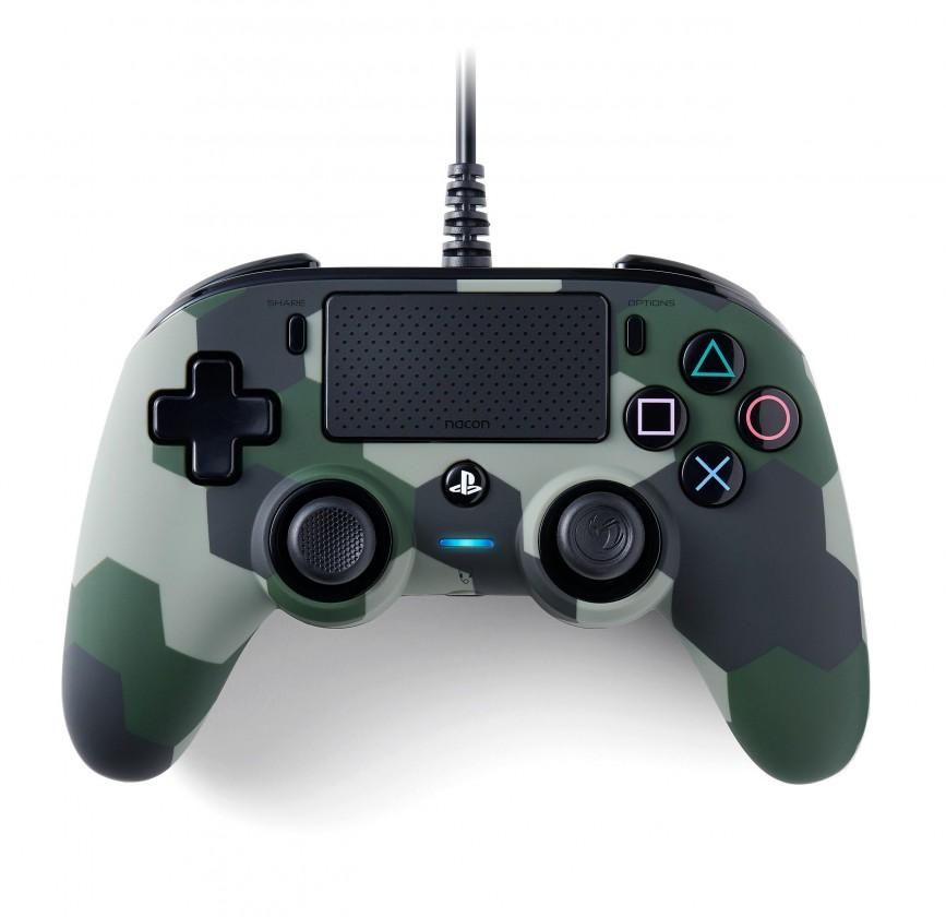 Gamepady Playstation PS4 herný ovládač Nacon Compact Controller - Coloured Camo Green