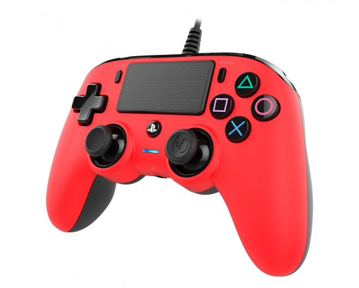 Gamepady Playstation PS4 herný ovládač Nacon Compact Controller - Coloured Red