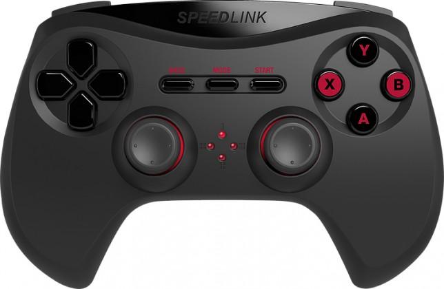 Gamepady Speed Link STRIKE NX Gamepad - Wireless - for PC, black
