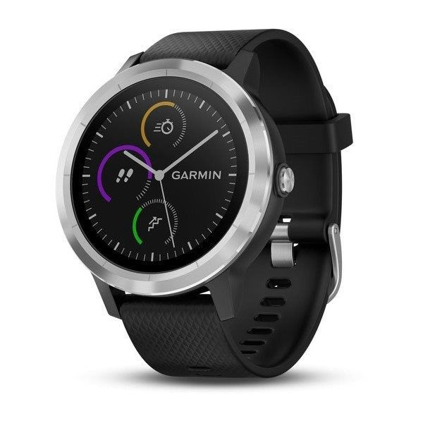 Garmin Vivo Smart hodinky Garmin VivoActive 3 Optic Silver, čierne