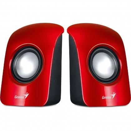 GENIUS repro SP-U115, prenosné repro, USB napájanie, červené