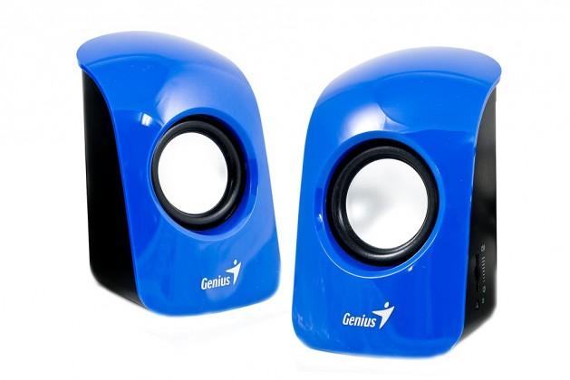 GENIUS repro SP-U115, prenosné repro, USB napájanie, modré