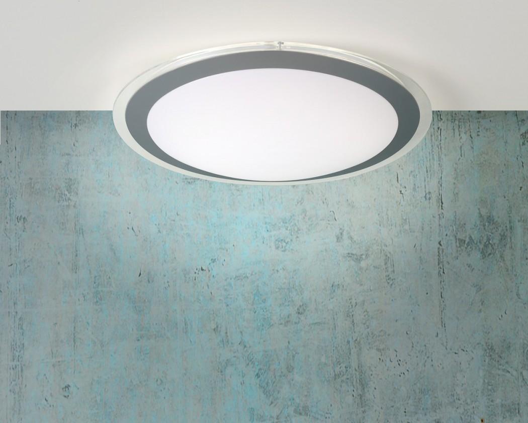 Gently - stropné osvetlenie, 22W, T5, 33 cm (sivá)